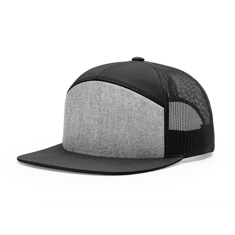 Piece Richardson 7 Panel Cap ::Heather Grey/Black ::