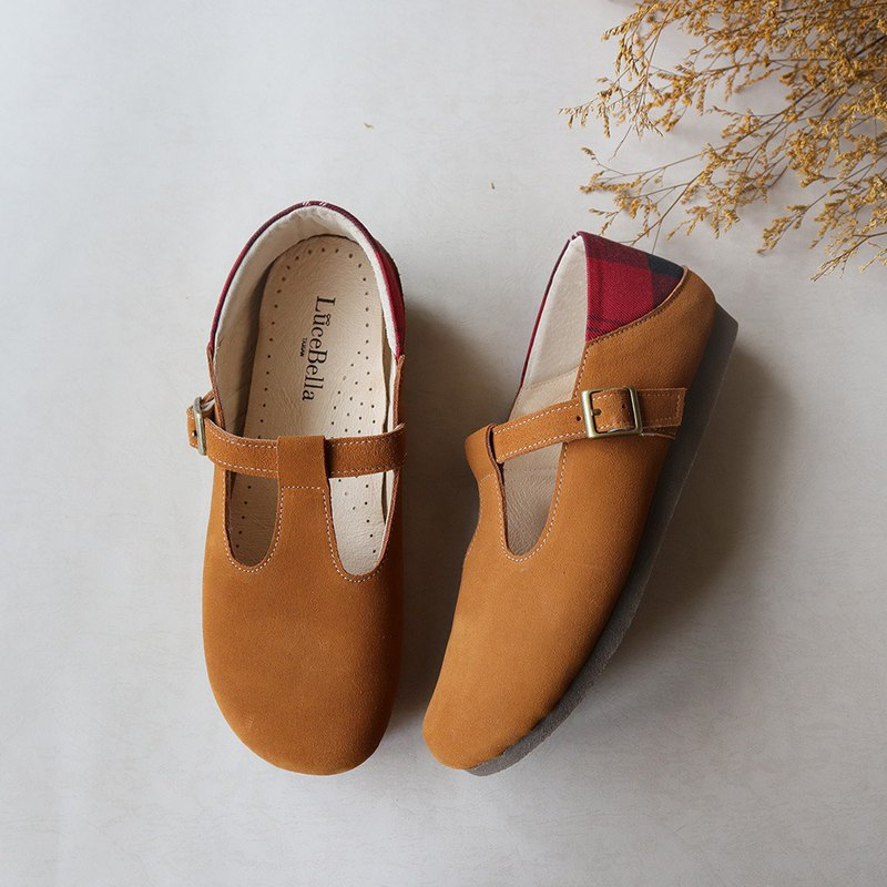 [Marshmallow] Waterproof Bread Shoes-Brown Yellow