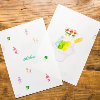 """hula shave ice ""clear plastic folder!"