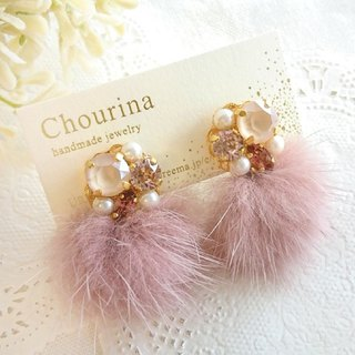 Mink fur bijou earrings, earrings