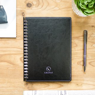 Loose leaf removable A5 notebook-Black Cover