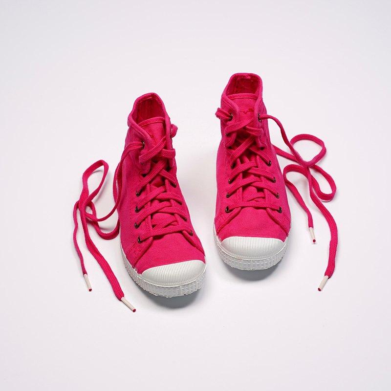 西班牙帆布鞋 CIENTA 61997 88 桃紅色 經典布料 童鞋 高筒