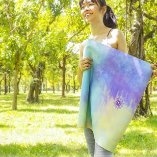 FunSport fit Psychedelic Forest Travel Yoga Mat 1mm (Travel Pad / Travel Pad / Paving)