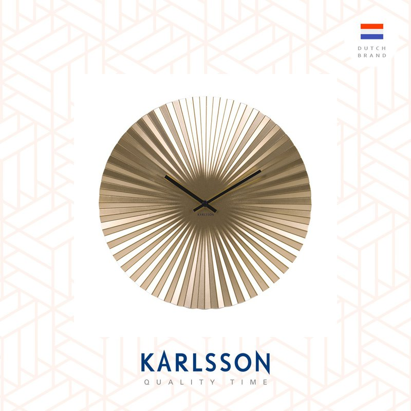 荷蘭Karlsson Wall clock Sensu steel gold 金色放射設計掛鐘