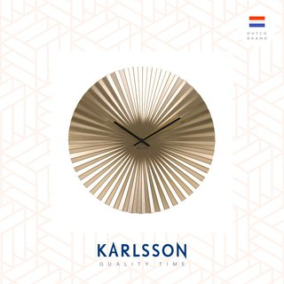 Karlsson, Wall clock Sensu steel gold