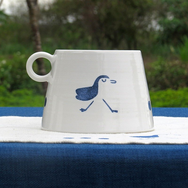 【Funny】 Yamagata Cup - Samsung start of the four seasons - white-bellied -460ml