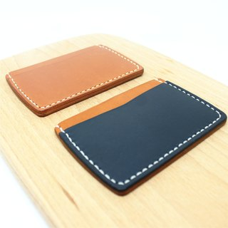 [Butterfly hand-made leather] ticket holder (free branding service).
