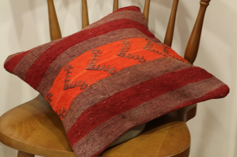 SALE Kilim Cushion Cover Traditional design 40×40cm NO878