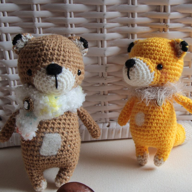 Amigurumi crochet doll: yellow fox