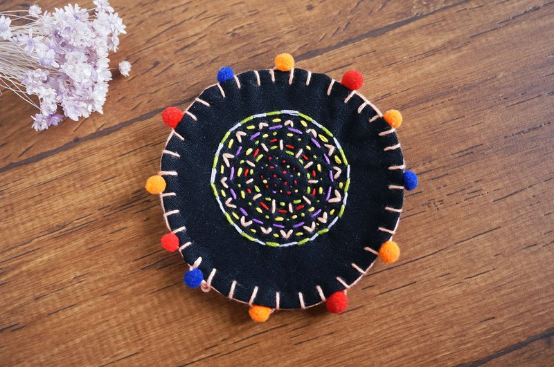Totem Embroidery Coaster