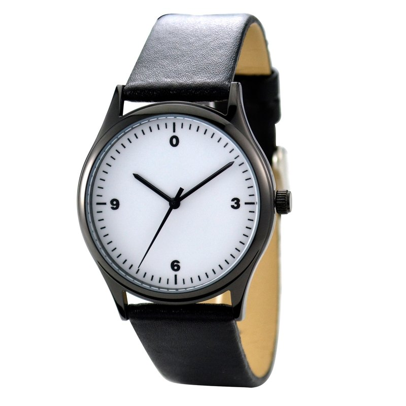 Minimalist Numbers Watch  Black  Free shipping Worldwide