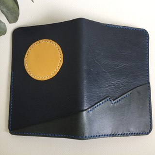 Moonlight Sea Passport Clip _ Leather Hand Sewing Handcraft Passport Holder