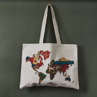 Canvas Tote Bag - World Map