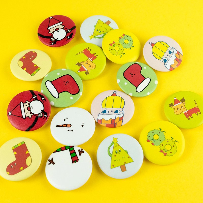 Mini Pins - Christmas (9 Different Patterns)