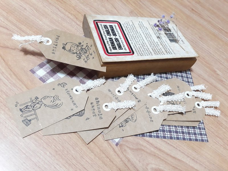 Little things bookmark 12 pieces