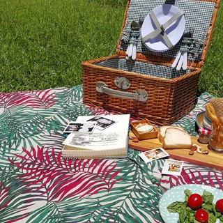 Palm Picnic mat tote bag