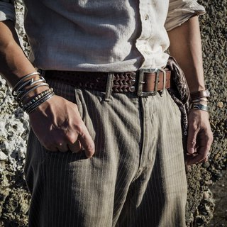 HEYOU Handmade – Chained Leather Belt Leather Belt