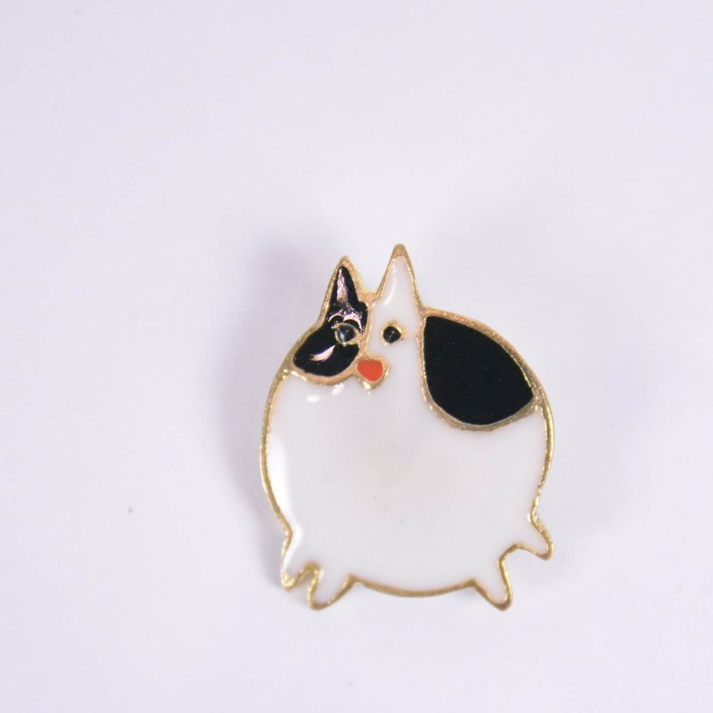 Doomsday Animal Party Brass Pins _ Lazy Fat Cat _ Fair Trade