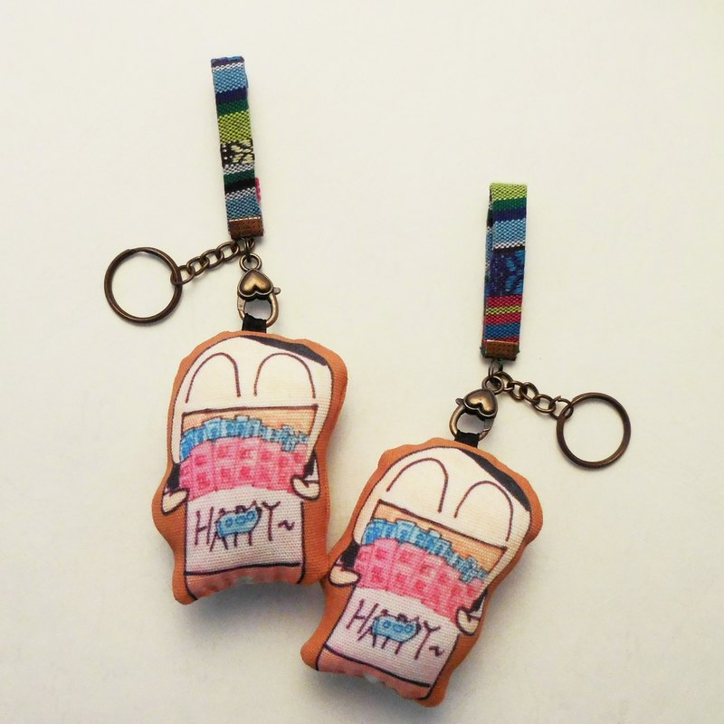 Graffiti picture [custom] small couple key ring charm (pair) parent-child gift