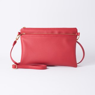 Easy to carry double back / hand bag dual Mira Red / beautiful red