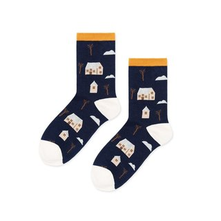Sc. Lifestyle Cute wooden socks / socks / comfort socks / women socks