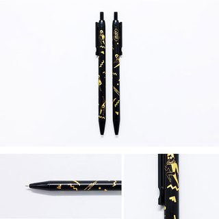 Boy girl black gold ball pen
