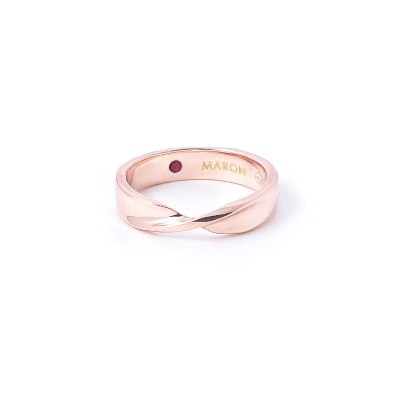 Twist Ring (Rose gold)