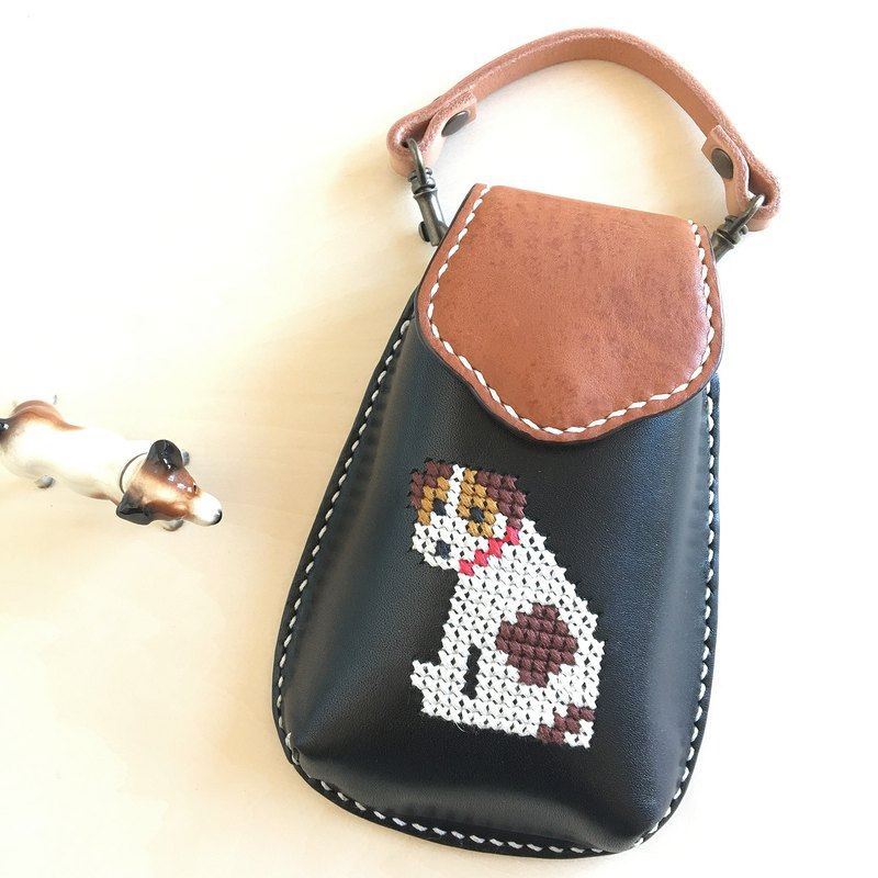 Cross stitch mobile case  with a JRT