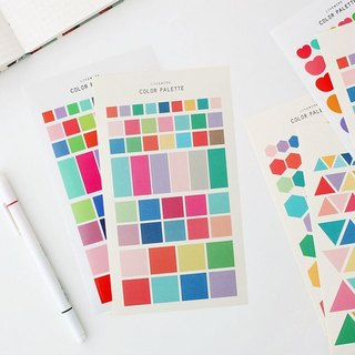 Livework-COLOR Geometric Sticker Set - Square, LWK37392