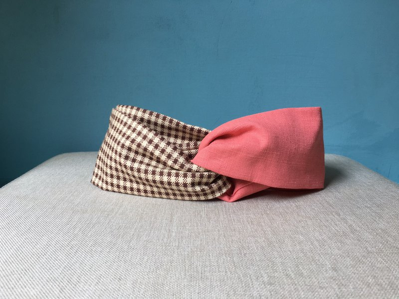 Classic Hair Band / Checkered Cloth Not Houndstooth-Pink
