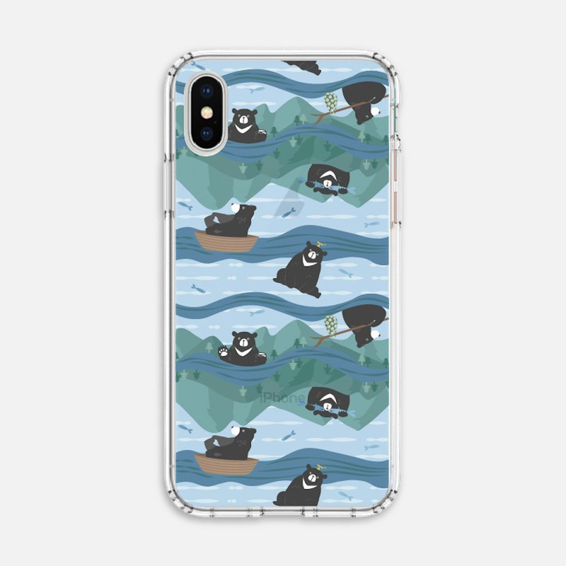 Conservation Animals [Wandering Black Bear] Anti-fall Soft Shell Mobile Shell iPhone Android/OPPO/ASUS