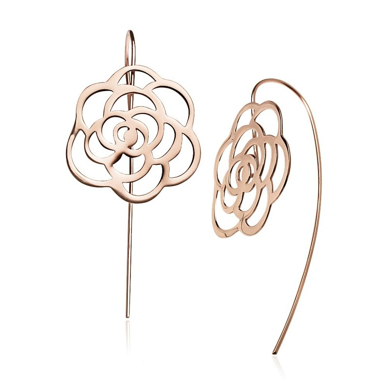 Elegant Shadow Earrings (Rose Gold)
