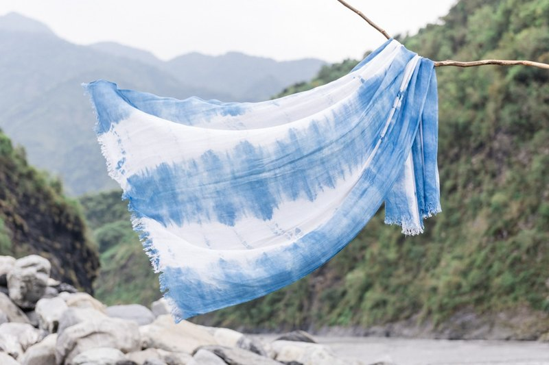 Free dye isvara Aizen cotton scarves Spring is here! Series