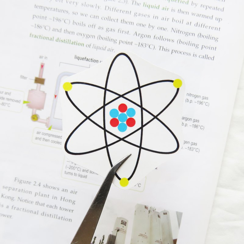 Lifelong Learning series: Atom Sticker (Big)