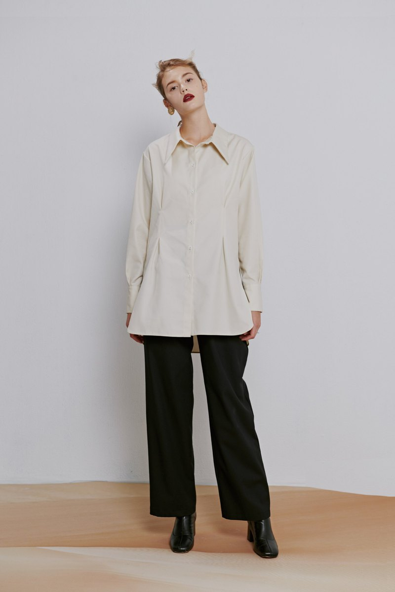 IRENSENSE-Female Pleated Shirt