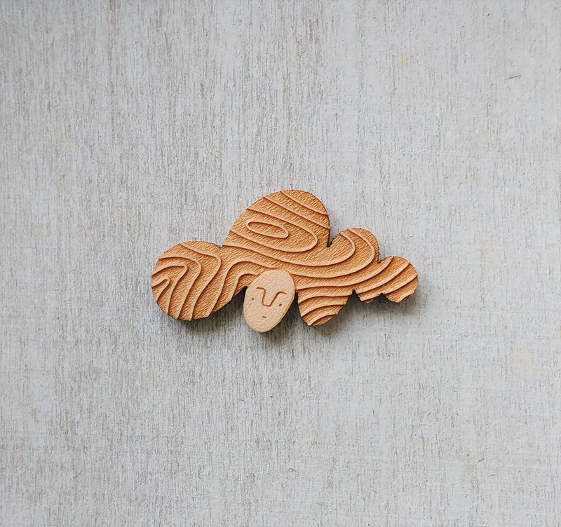 Beethoven's Cloud / Maple Brooch