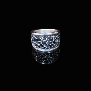 [Hollow ring Series - Constant of Time Manually-silver ring. Commemorative ring. Valentine's Ring