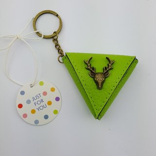 Deer triangle change bags, guitar pick keychain package ornaments small gift bags can be printed name
