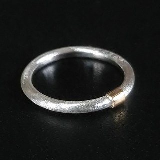 K18Gold Silver Ring