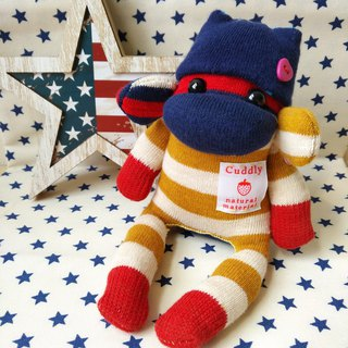 SOCKS MONKEY/small size /red yellow border