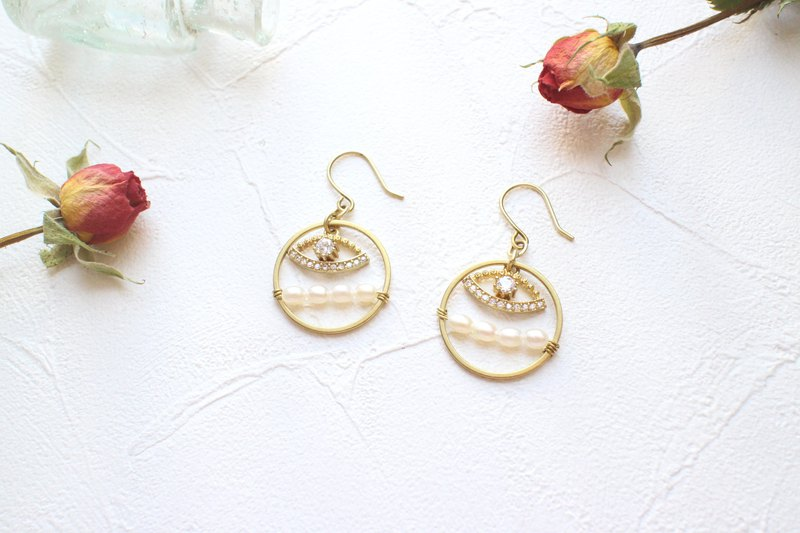 Happiness-Brass handmade earrings