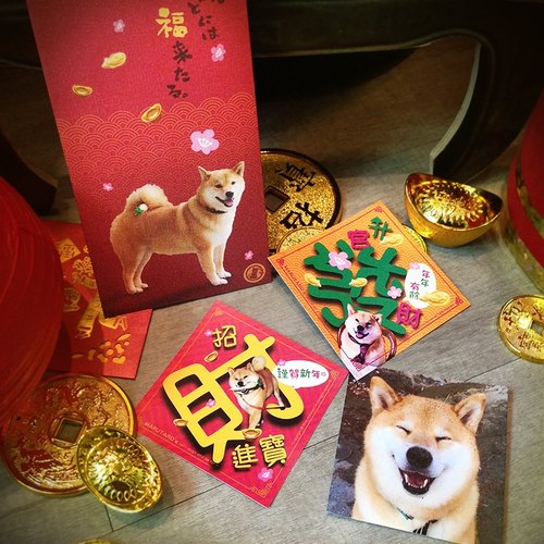 Shiba Inu MARU - Chai God to Lucky Fortune Spring Festival combination