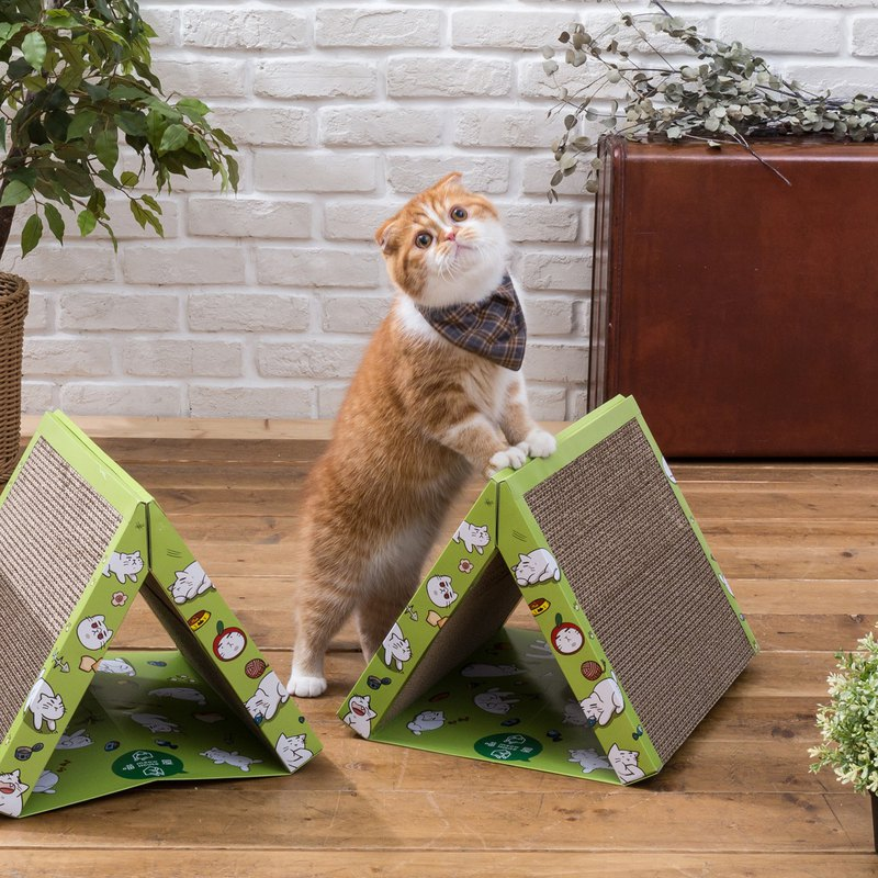Tent Cat Scratching Board - Jungle Green (The First Port sells camping essential fever products)