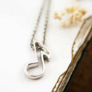 Music Department-Eighth Note Cutout Eighth Note Sterling Silver Necklace - Couple Pair Chain Men's Pendant