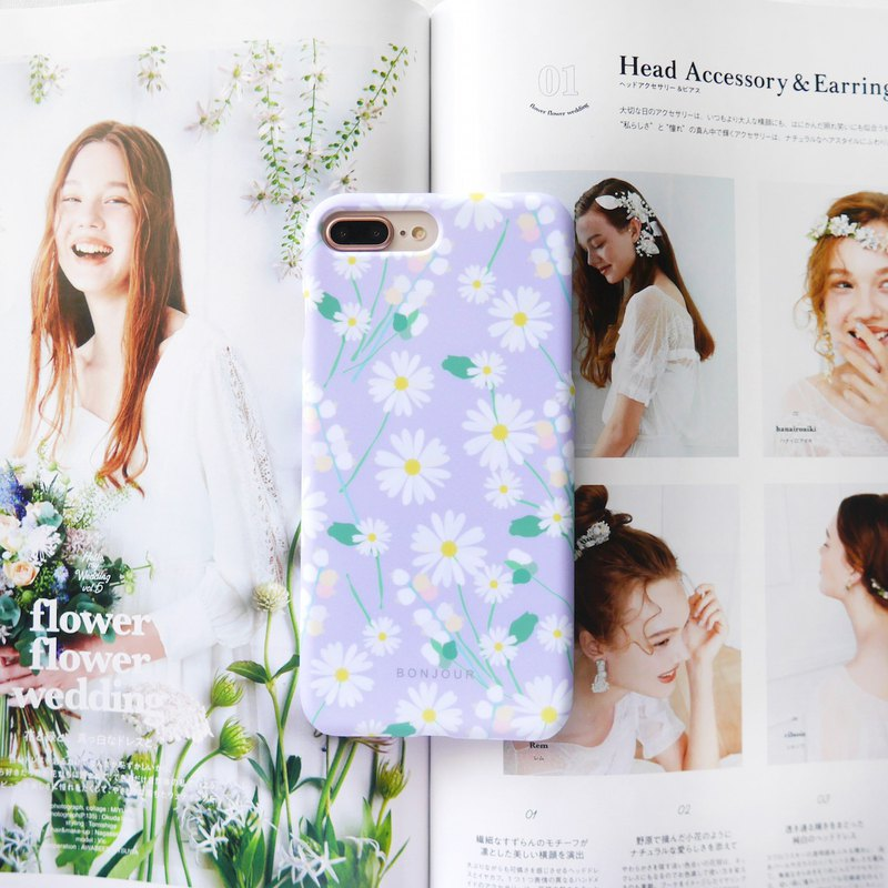 Pink daisy phone case