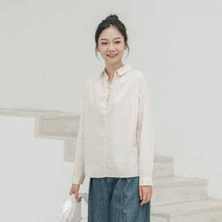 BUFU retro cotton shirt apricot color