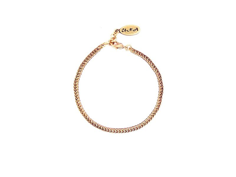 [UNA- excellent Na] handmade wild _Ⓑ basic shape models copper brass chain bracelet