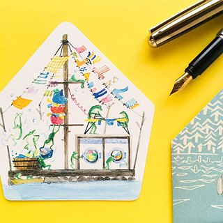 Greeting card/Frog house