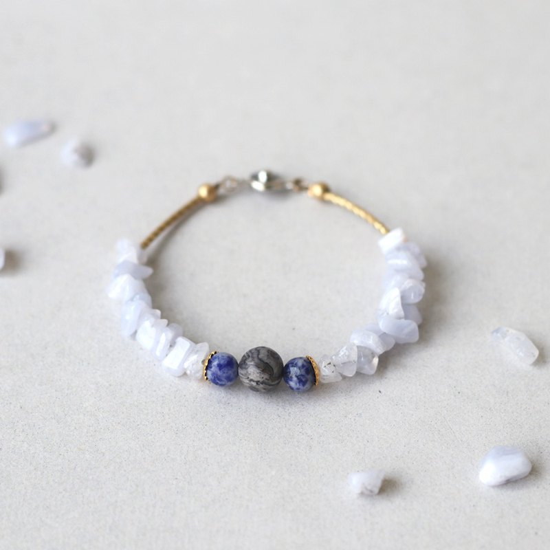 Natural Stone Brass Bracelet: Midnight Movie