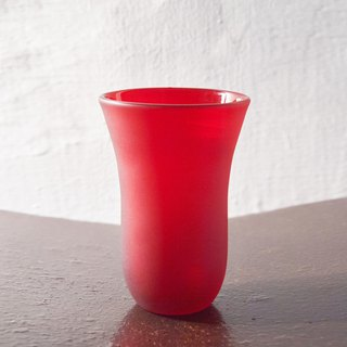 [3, co] handmade colored glass (large) - red